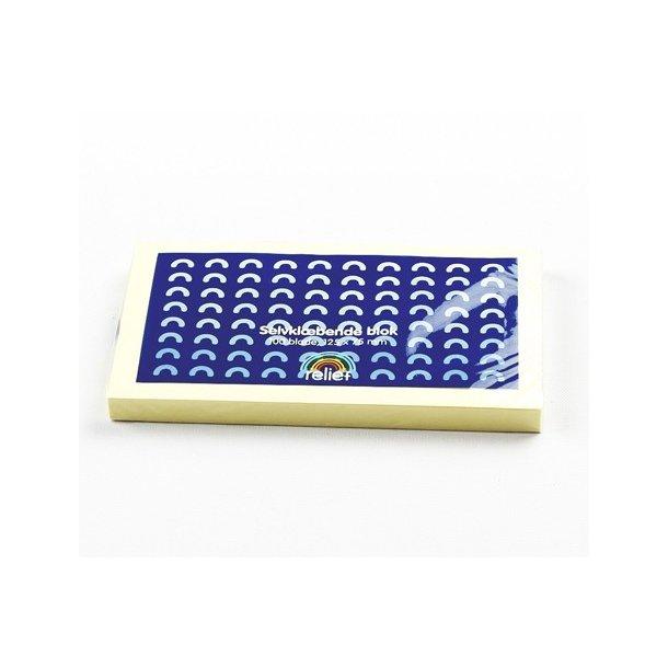 Memoblokke - Relief gul 125 x 75 mm 12 stk