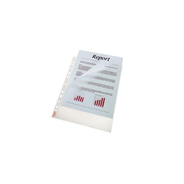 Esselte pocket Premium clear textured 75my A4 100 stk