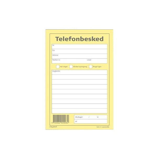 Telefonbesked Mayland 105x145mm