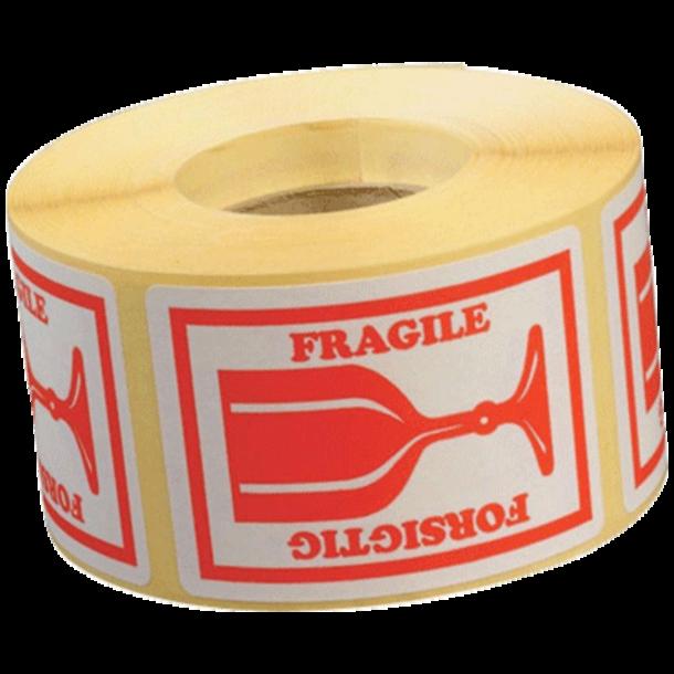 Forsigtig Etiketter - 46x65mm 1000stk