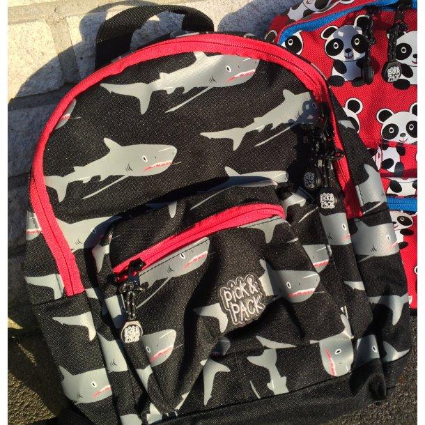 Pick&Pack taske - Haj motiv