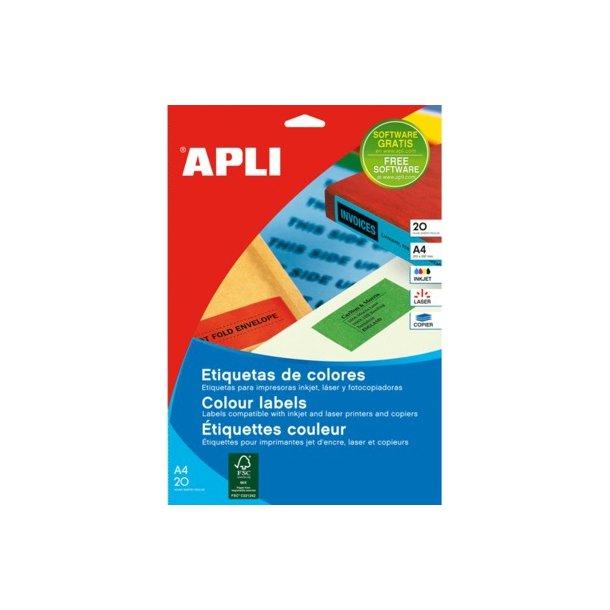 APLI Etiketter Rød 34x67 mm - 1 pakke