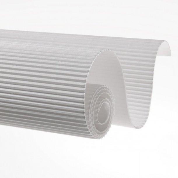 Bølgepap - HVID 25 cm x 70 mtr