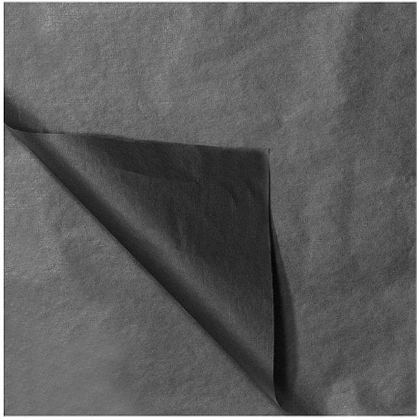 Silkepapir - Sort 50x75cm 480 ark