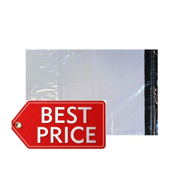 Lysegrå forsendelsespose 450 x 550mm - 100 stk