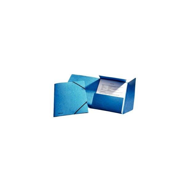 Elastikmapper blå 25 stk