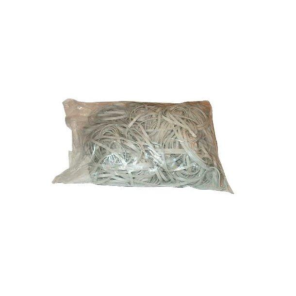 Gummibånd hvid 5x180 mm - 1000 gr.