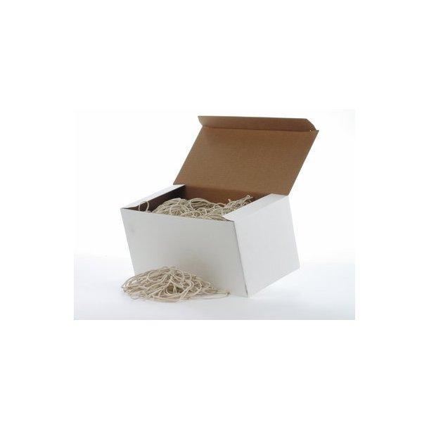 Gummibånd hvid nr. 18, 80 x 1,7 mm - 1000 gr.