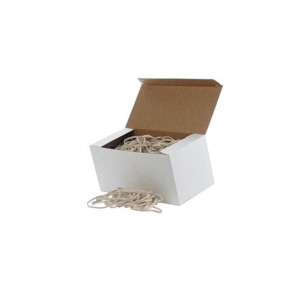 Gummibånd hvid 5x220 mm - 500 gr.