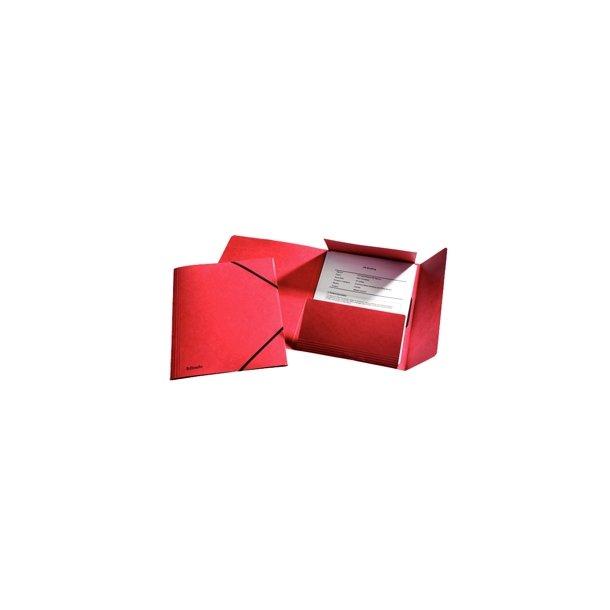 Elastikmapper rød 25 stk