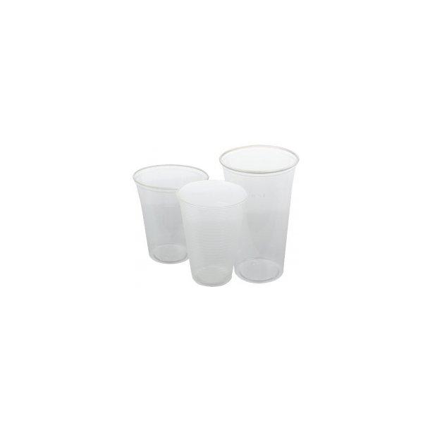 Plastglas 50 cl blød, klar - 50 stk