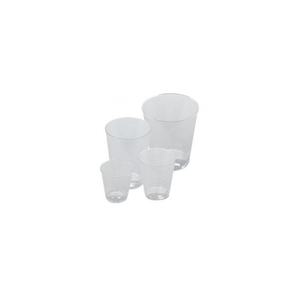 Plastglas 25 cl klar, Højde 107 mm - 25 stk