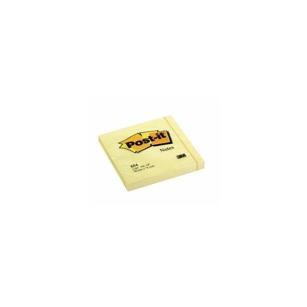 Post-it 654, 76 x 76mm, yellow 12 blokke