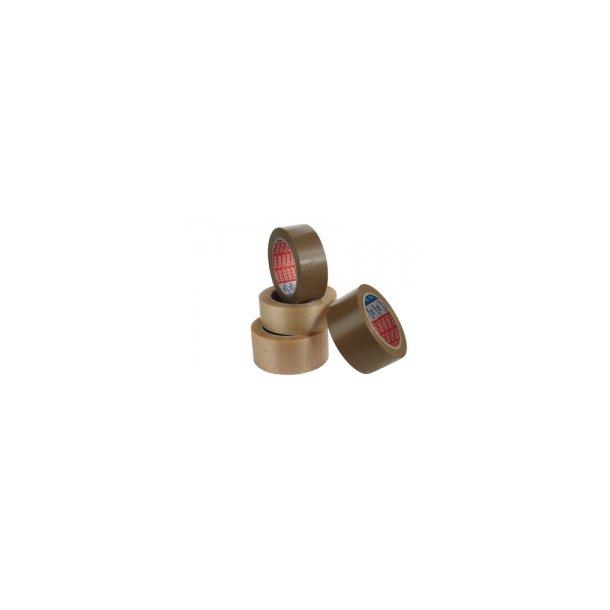 Pakketape 38/66 klar Tesa 4100, liniepræget PVC - 6 ruller