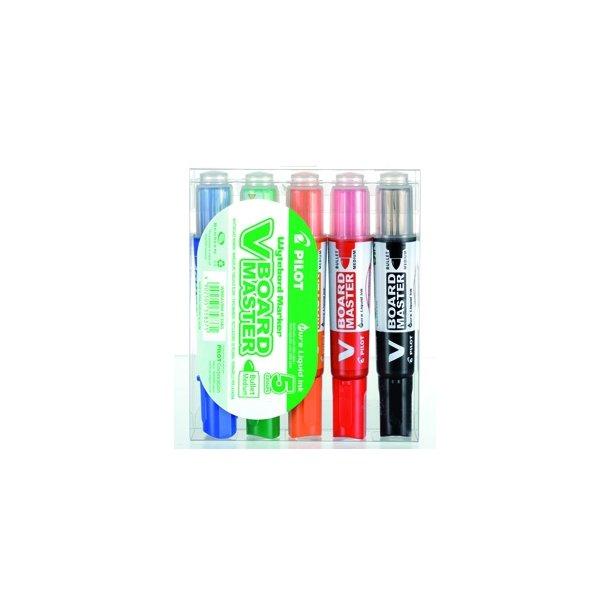 Whiteboard penne - Pilot WB bullet/medium pakke med 5 stk