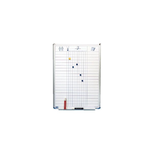Navnebræt - Whiteboard 50x70cm Magnetisk