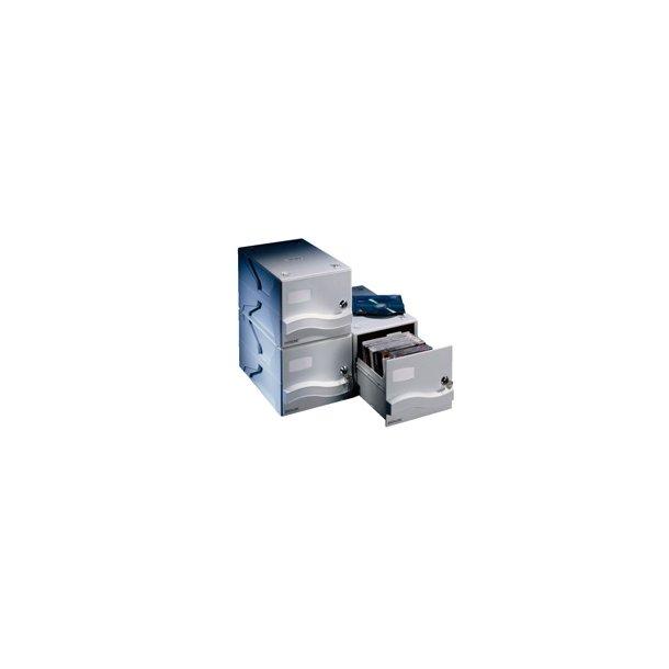 CD storage drawer for 25/50 CD/DV's Grey