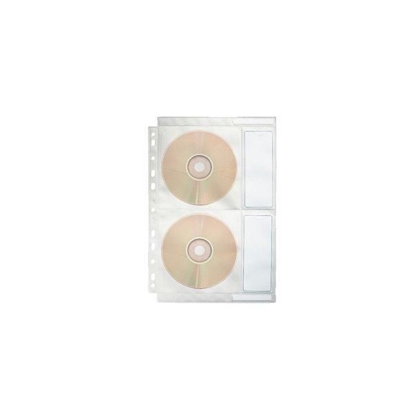 CD cover for 4 CD/DVD's 10 stk