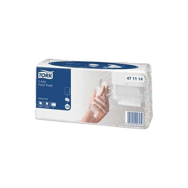 Håndklædeark Tork Advanced, C-fold, H3-Classic - 2400 ark
