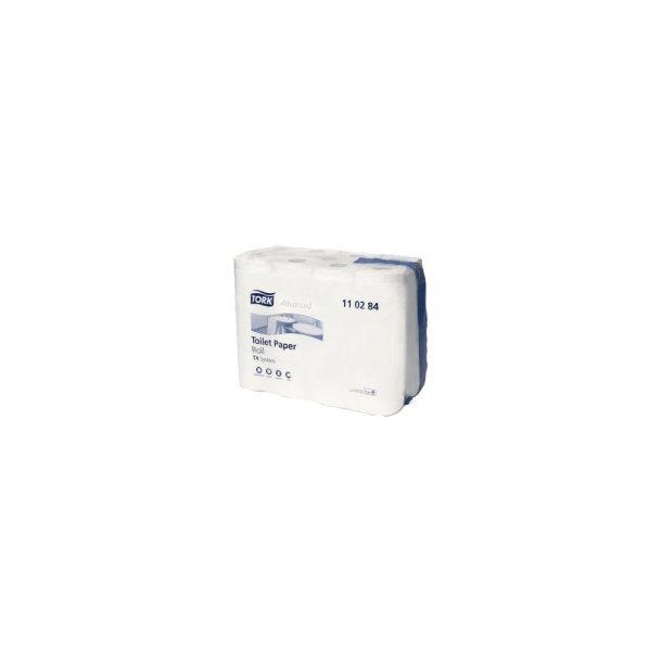 Toiletpapir Tork Advanced T4, Hvid, 2-lags - 24 rll
