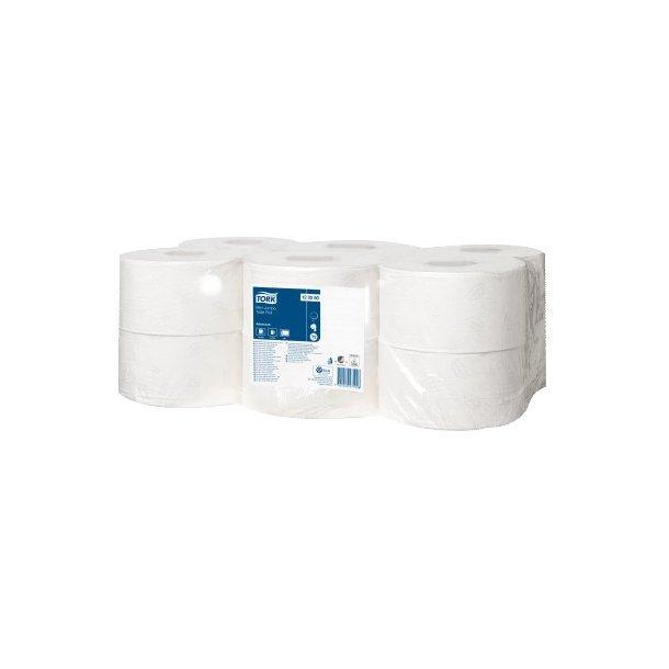 Toiletpapir Tork Premium T2, Mini Jumbo, 2-lags - 12 rll