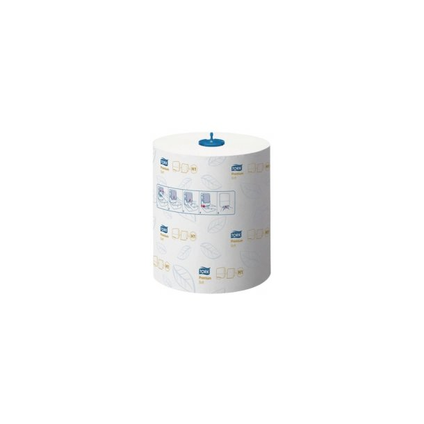 Håndklæderulle Tork Premium, H1,Matic,soft, hvid - 6 rll