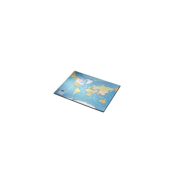 Skriveunderlag - med verdenskort 40x53