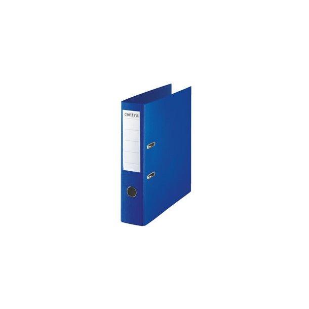 Brevordner - Centra uden metalshoe PP A4/75mm Blå 10 stk