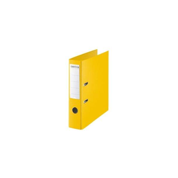 Brevordner - w/o metalshoe PP A4/75mm Yellow 10 stk