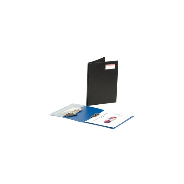Clip Binder Conference w/frontcover Black 10 stk