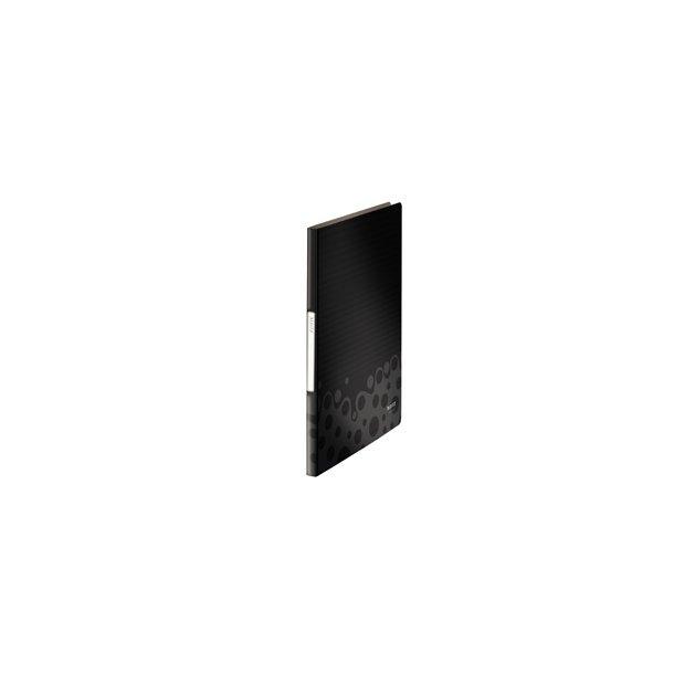Displaybog - Leitz PP 20 pockets Black 10 stk