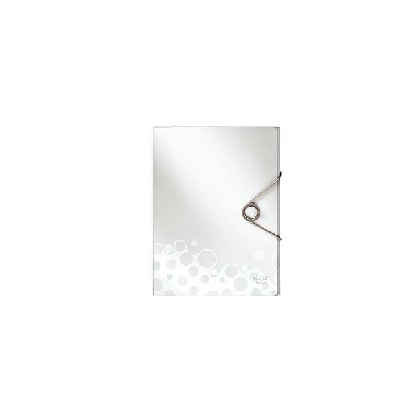 Konferencemappe - Leitz Bebop file PP Hvid 5 stk