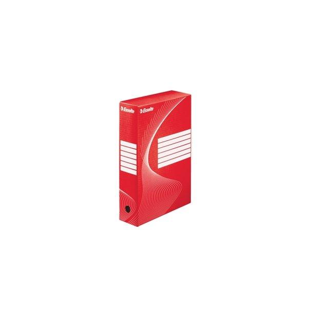 Opbevaringskasser - Esselte Boxy archiving Box 80 Red - FSC 25 stk