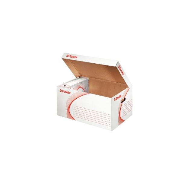 Opbevaringskasser - container box topload White 10 stk