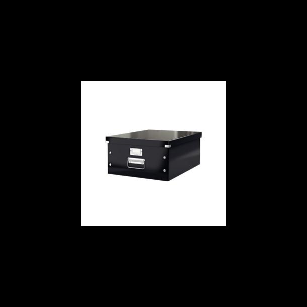 Opbevaringskasser - Leitz Click & Store box Large Sort 1 stk