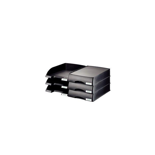 Brevbakker - Leitz Plus letter tray drawer unit Black 4 stk