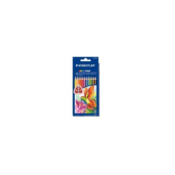 Farveblyanter Noris club Triangular 100% PEFC - 12 farver