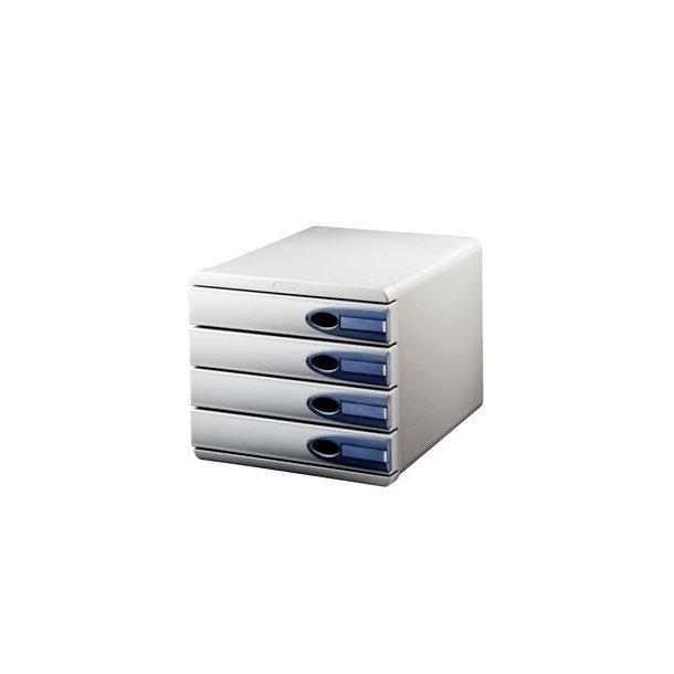 Skuffekabinet - Leitz Allura cabinet 4-drawer Grey/Smokey