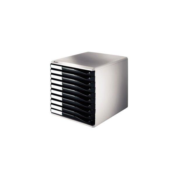 Skuffekabinet - Leitz Form set 10 drawers A4 sort