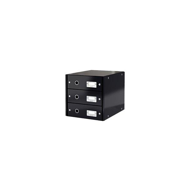 Skuffekabinet - Leitz Click & Store 3 drawer Sort