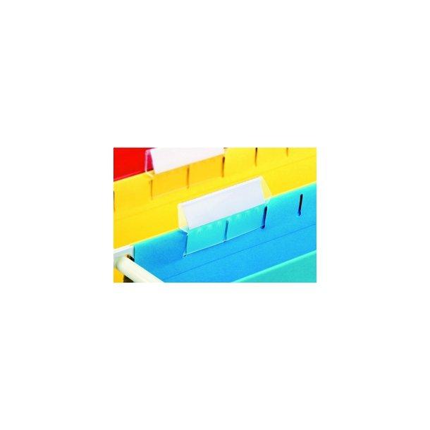 Hængemapper - Label for Pendaflex/Easyview 5cm 10 stk