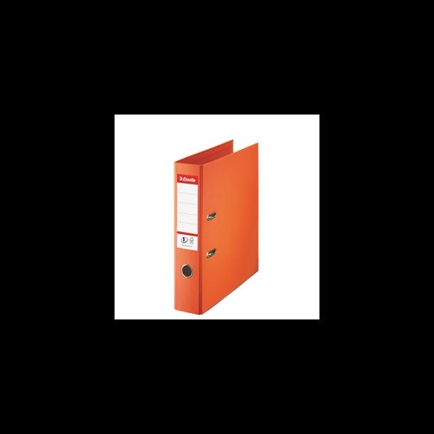 Brevordner - Esselte No1 PP A4/75mm Orange - FSC 10 stk