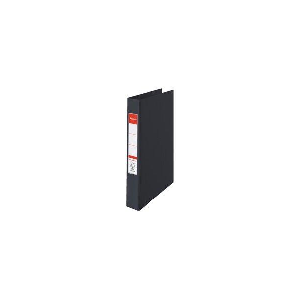 Brevordner - Esselte Vivida A4 2RR/25mm Sort 10 stk