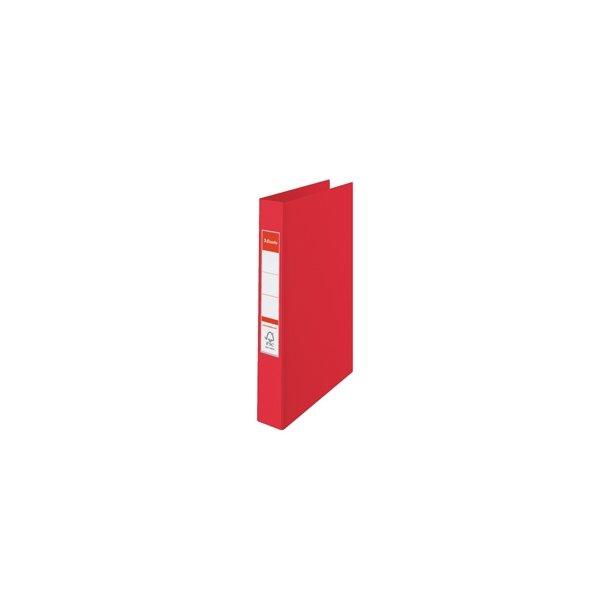 Ringbinder - Esselte A4 4RR/25mm Rød 10 stk