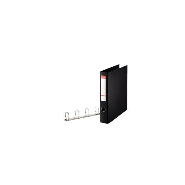 Ringbinder - Esselte Combi A4+ 4DR/40mm Sort - FSC 12 stk