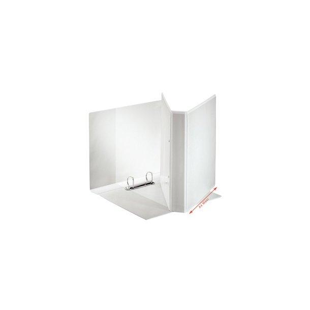 Panoramabinder - Esselte A4+ 2DR/25mm w/3 pock. Hvid 10 stk