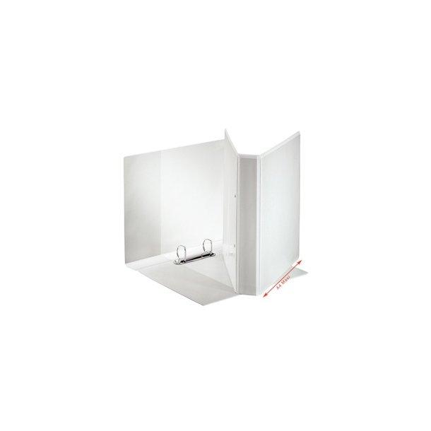Panoramabinder - Esselte A4+ 2DR/30mm w/3 pock. Hvid 10 stk