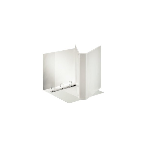 Panoramabinder - Esselte A4+ 4DR/30mm w/3 pock. hvid 10 stk