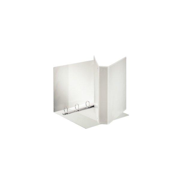 Panoramabinder - Esselte A4+ 4DR/40mm w/3 pock. hvid 10 stk
