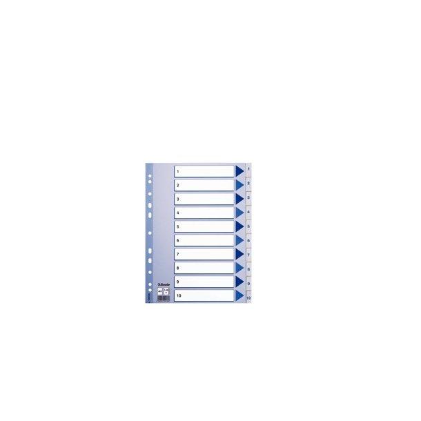 Faneblade - PP A4 1-10 White 10 stk